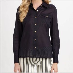 Tory Burch silk long sleeved shirt